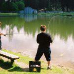 boys in residential treatment center fishing