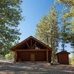 log cabin at mountain valley ranch